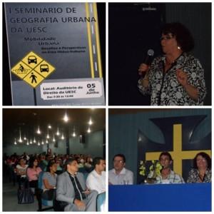 Palestras do I Seminário de Geografia Urbana na UESC