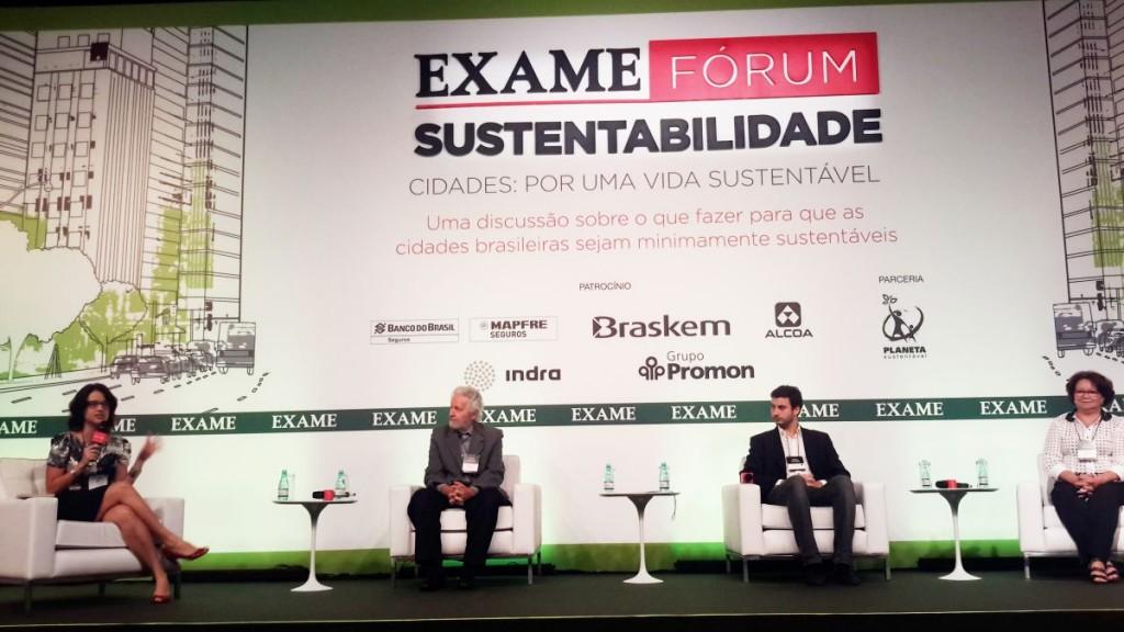 Participantes do Fórum de Sustentabilidade da Revista Exame