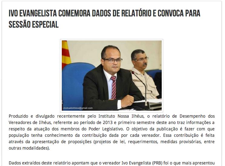 Ivo Evangelista De Olho na Câmara de Vereadores de Ilhéus