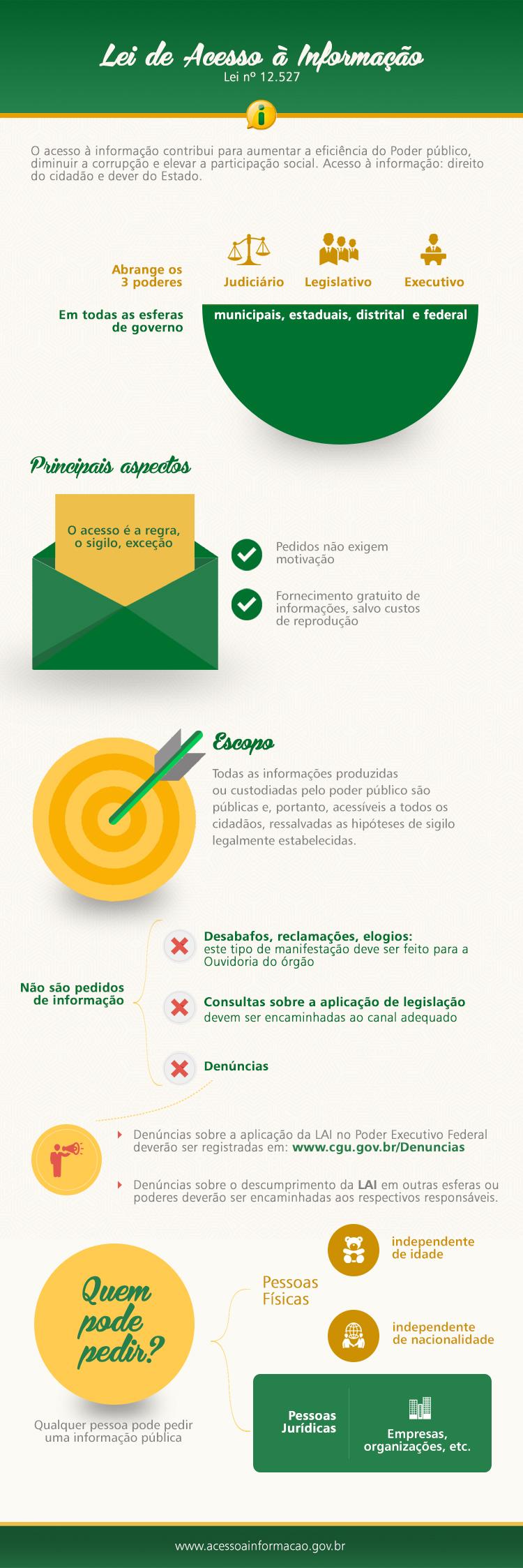 Infográfico Lei de Acesso à Informação