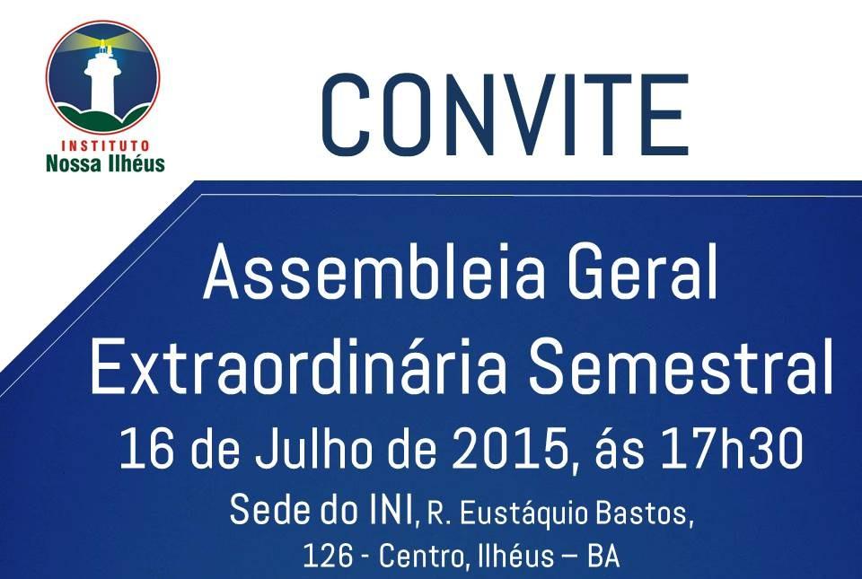 Assembleia Geral Extraordinaria 2015