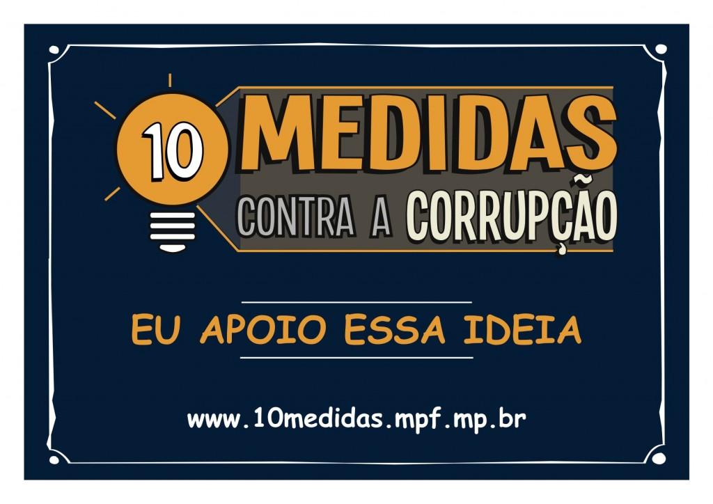 10 medidas contra a corrupcao