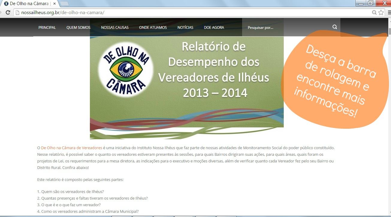 Desça a barra de rolagem e encontre mais informações sobre os vereadores de Ilhéus, seus partidos e alterações.