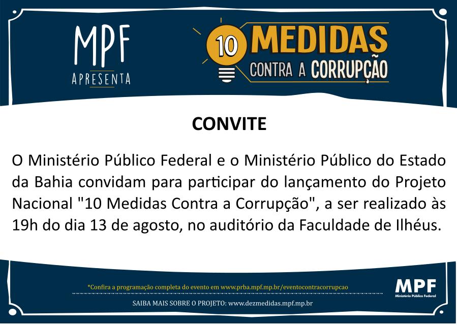 convite 10 medidas contra corrupcao