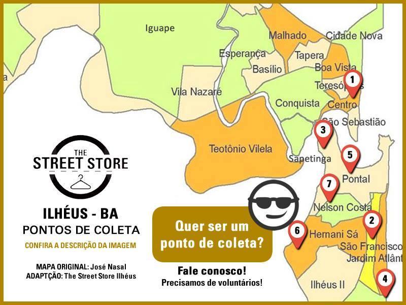 Mapa The Street Store Ilheus