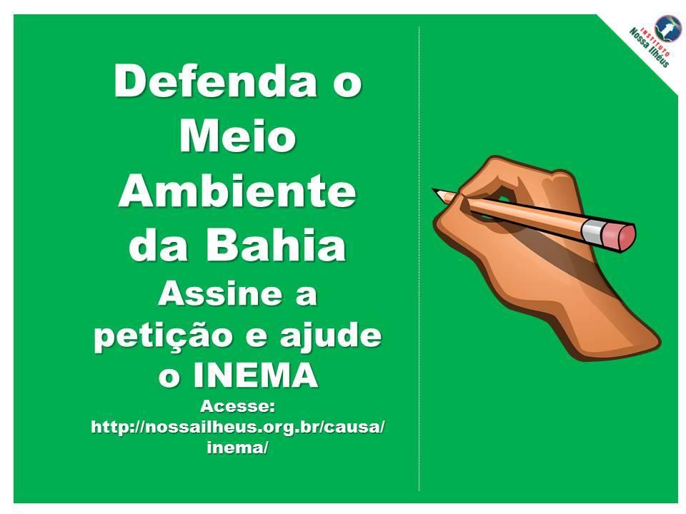 Petição INEMA Meio Ambiente Bahia