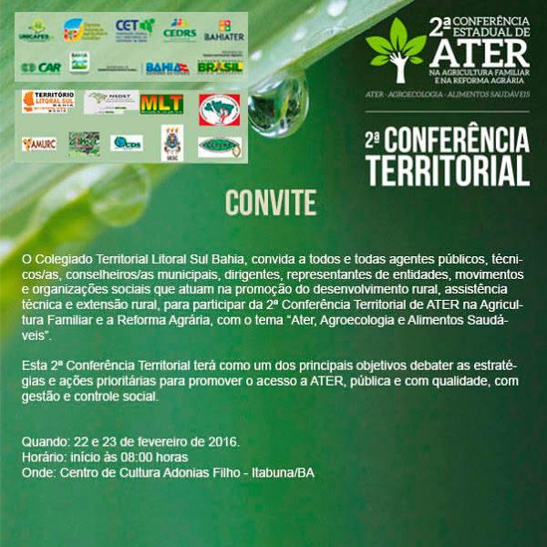 Conferencia Territorial Litoral Sul ATER