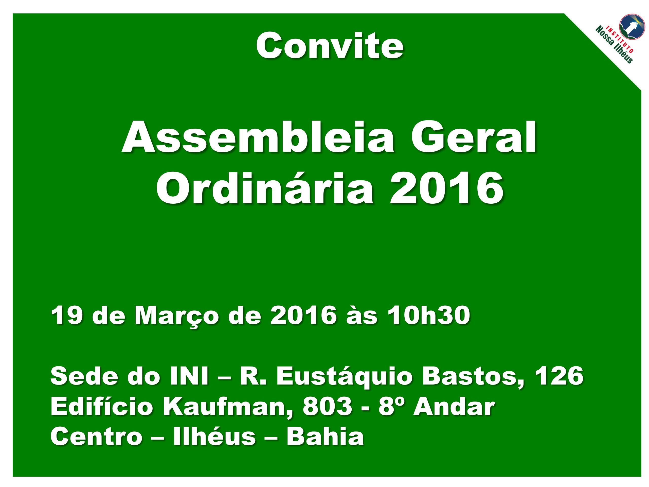Assembleia Geral 2016